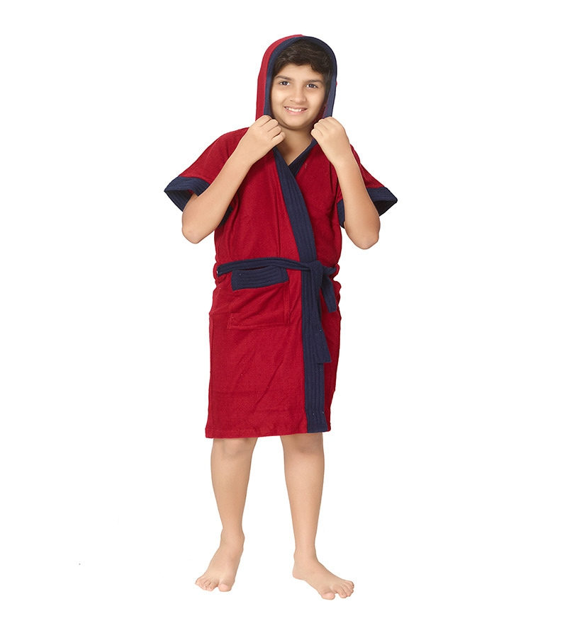 Red 12 Years Boy Bath Robe by Sand Dune