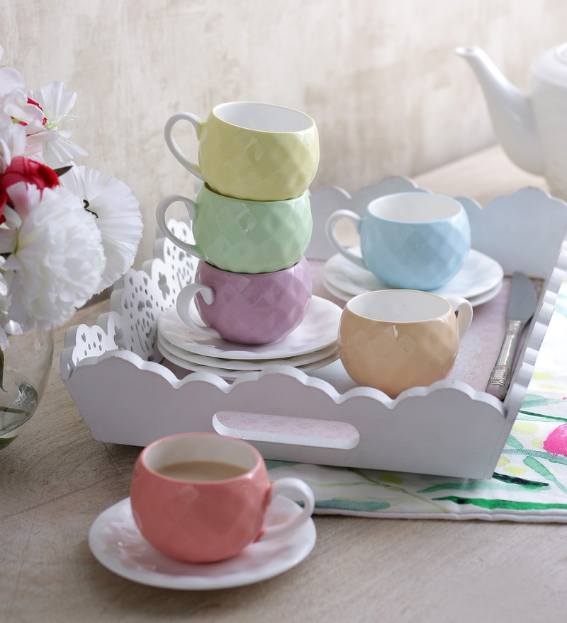 Sanjeev Kapoor's  Nutra Cups & Saucers - Set of 6