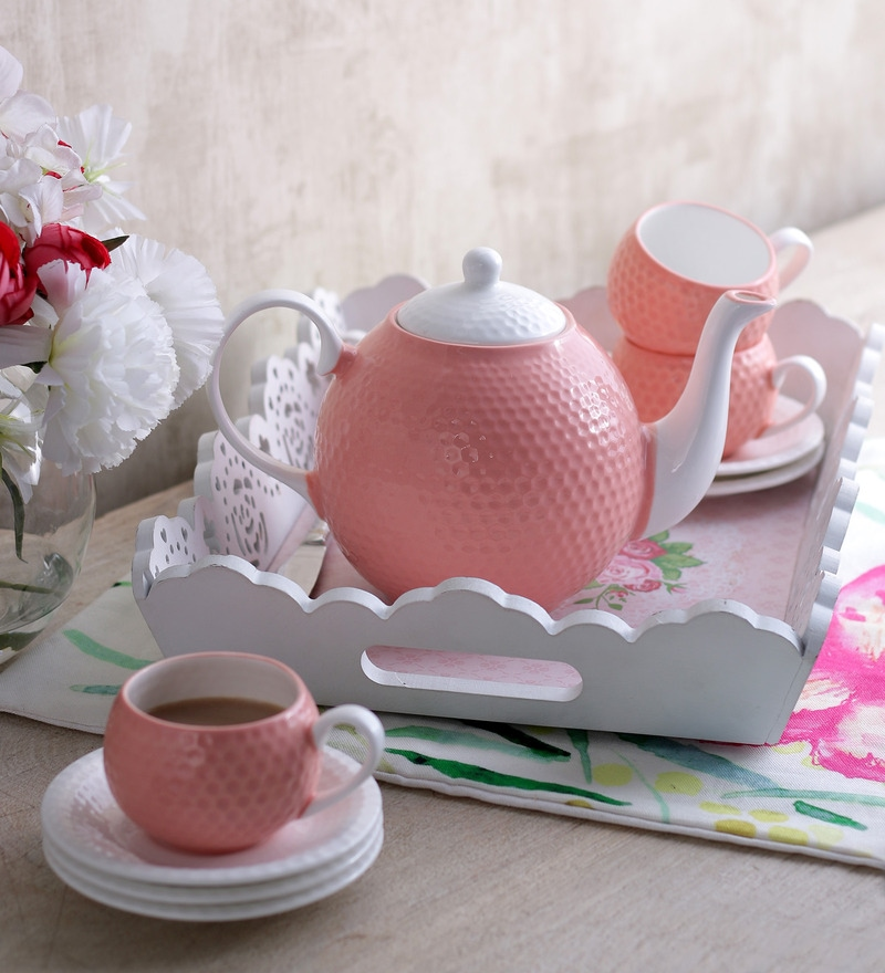 Sanjeev Kapoor's Peach Tea Set