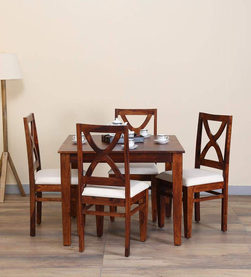 Santa Fe Four Seater Dining Set in Honey Oak Finish by Woodsworth