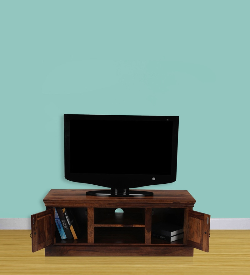 Sapphire Entertainment Unit in Honey Natural Finish by Royal Oak