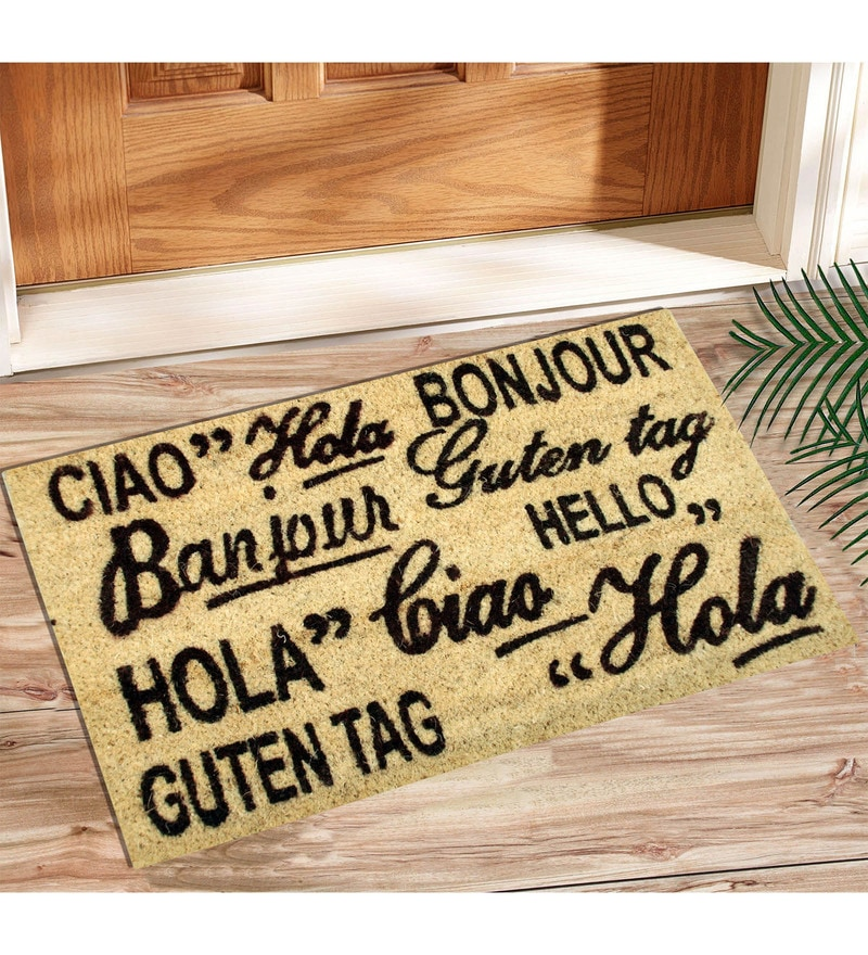 Beige Coir 24 x 20 Inch Outdoor Heavy Duty Mat by Saral Home