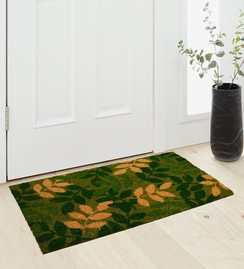 Green Coir 36 x 18 Inch Premium Quality Heavy Duty Door Mat by Saral Home