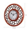Brown MDF 12 Inch Abstract Designs in Round Combination Wall Clock by Safal Quartz