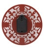 Safal Quartz Brown MDF 12 Inch Round Wrought Iron Look Wall Clock