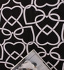 Salona Bichona Black 100% Cotton Queen Size Bedsheet - Set of 3