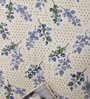 Salona Bichona Blue Cotton Floral 98 x 86 Inch Bed Sheet Set (with Pillow Covers)