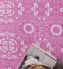 Salona Bichona Purple Cotton Geometric Bed Sheet Set (with Pillow Covers)