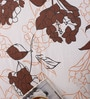 Salona Bichona White & Brown Floral Double Bed Sheet Set