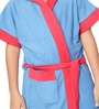 Robe Blue Terry Cotton 28X32 INCH Kids Bath Robe by Sand Dune