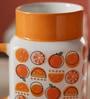 Sanjeev Kapoor Orange Bone China 550 ML Mason Mugs - Set of 2