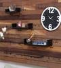 Black Mango Wood Wall Shelf - Set of 3 by Home Sparkle