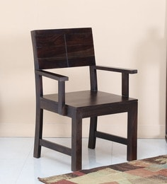 Segur Arm Chair In Warm Chestnut Finish