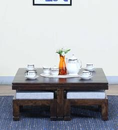 Segur Coffee Table Set In  Warm Chestnut Finish