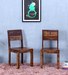 Segur Dining Chair (Set Of Two) In Provincial Teak Finish