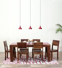 Segur Six Seater Dining Set In Provincial Teak Finish