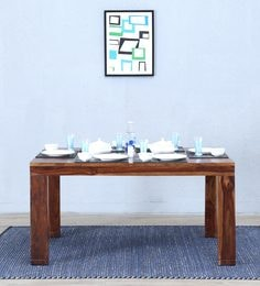 Segur Six Seater Dining Table In Provincial Teak Finish