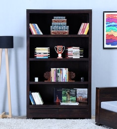 Segur Tall Book Shelf In Warm Chestnut Finish