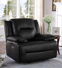 Semana One Seater Manual Recliner In Black Colour
