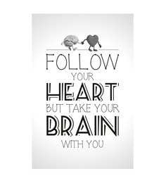 Seven Rays Paper 12 x 1 x 18 Inch Follow Your Heart Unframed Poster at pepperfry