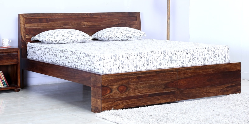 Segur Solidwood Queen Bed in Provincial Teak Finish by Woodsworth