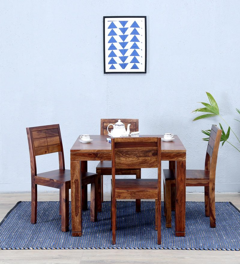 Segur Four Seater Dining Set in Provincial Teak Finish by Woodsworth