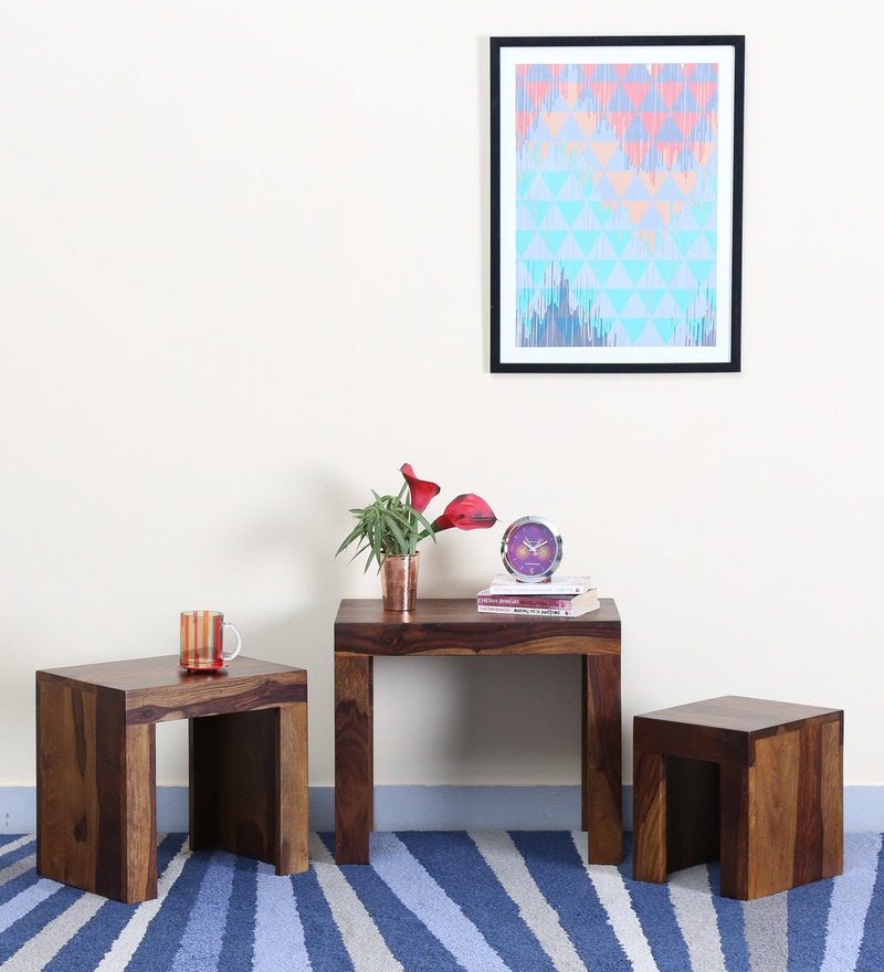 Acropolis Set Of Tables in Provincial Teak Finish by Woodsworth