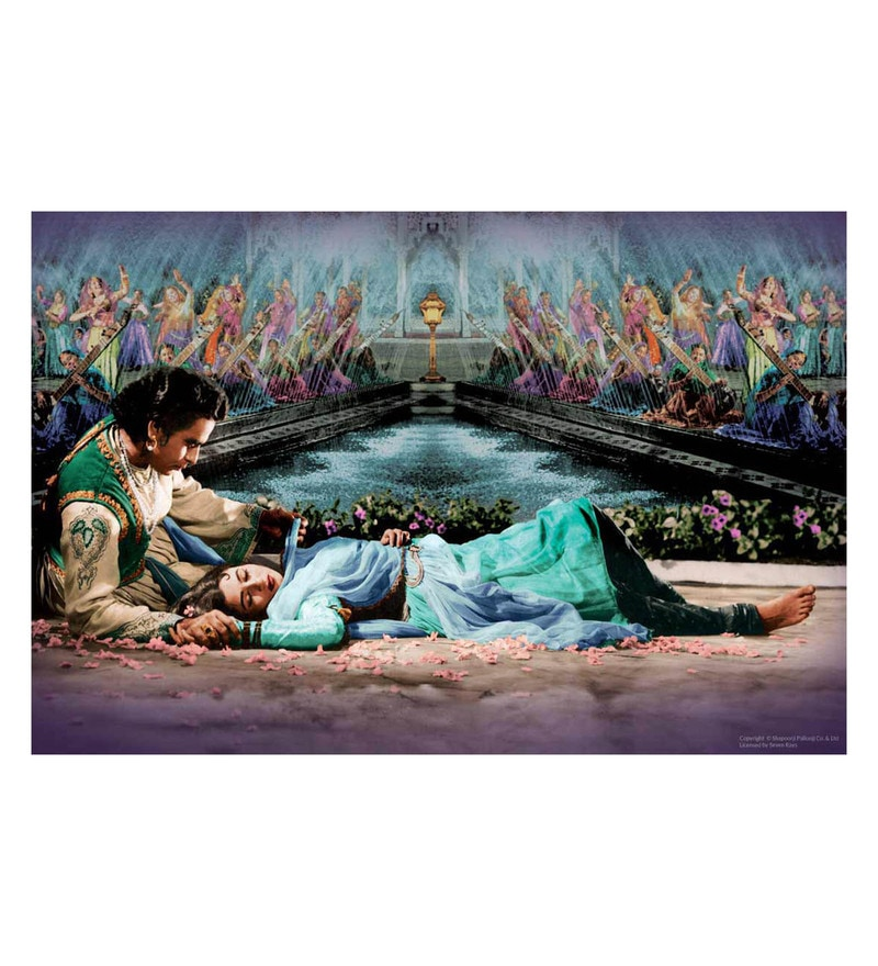 Paper 24 x 16 Inch Mughal-e-Azam Madhubala Dilip Kumar Unframed Bollywood Poster by Seven Rays