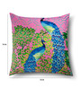Multicolor Cotton 16 x 16 Inch HD Digital Premium Peacock Cushion Covers - Set of 2 by SEJ By Nisha Gupta