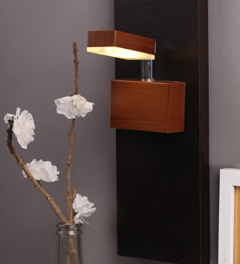 Brown LED Wall Light Fixture by SGC