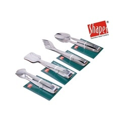 Shapes Prince Silver Stainless Steel Serving Tools - Set Of 4