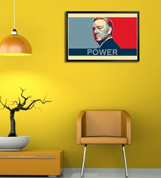Shop Mantra Wooden 19 x 1 x 13 Inch House of Cards Power Framed Poster at pepperfry