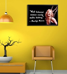 Shop Mantra Wooden 19 x 1 x 13 Inch Marilyn Monroe Quote Framed Poster at pepperfry