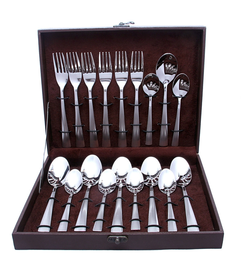 Shapes Aero Satin Stainless Steel Cutlery Set - Set of 18