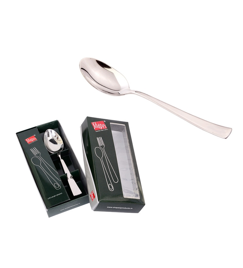 Shapes Artic Stainless Steel Tea Spoon - Set of 12