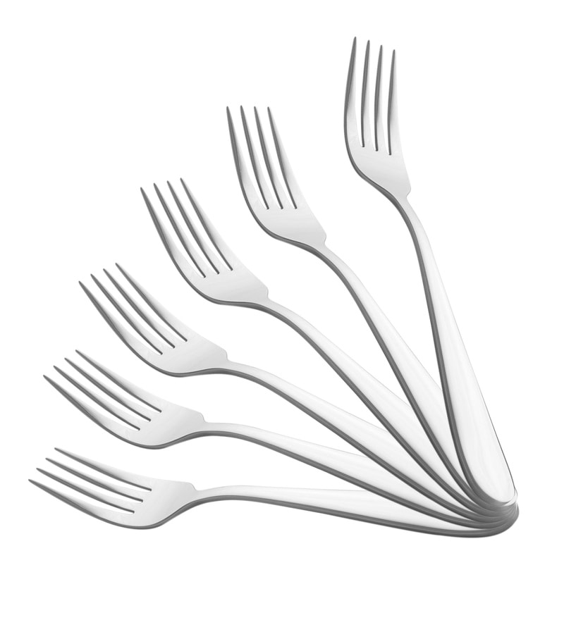 Shapes Colin Silver Stainless Steel Table Fork - Set of 6