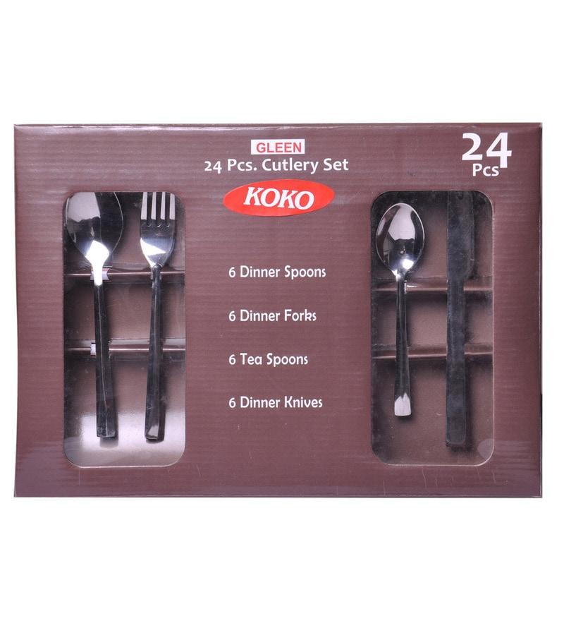Shapes Koko Gleen Stainless Steel 24-piece Cutlery Set