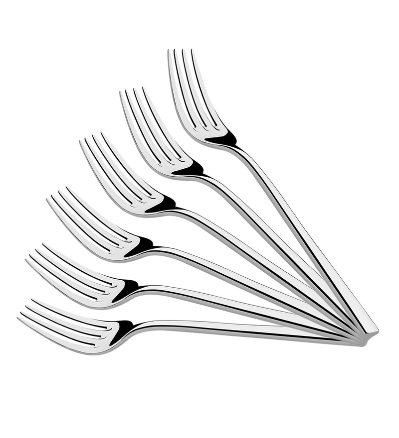 Shapes Rio Silver Stainless Steel Table Fork - Set of 6