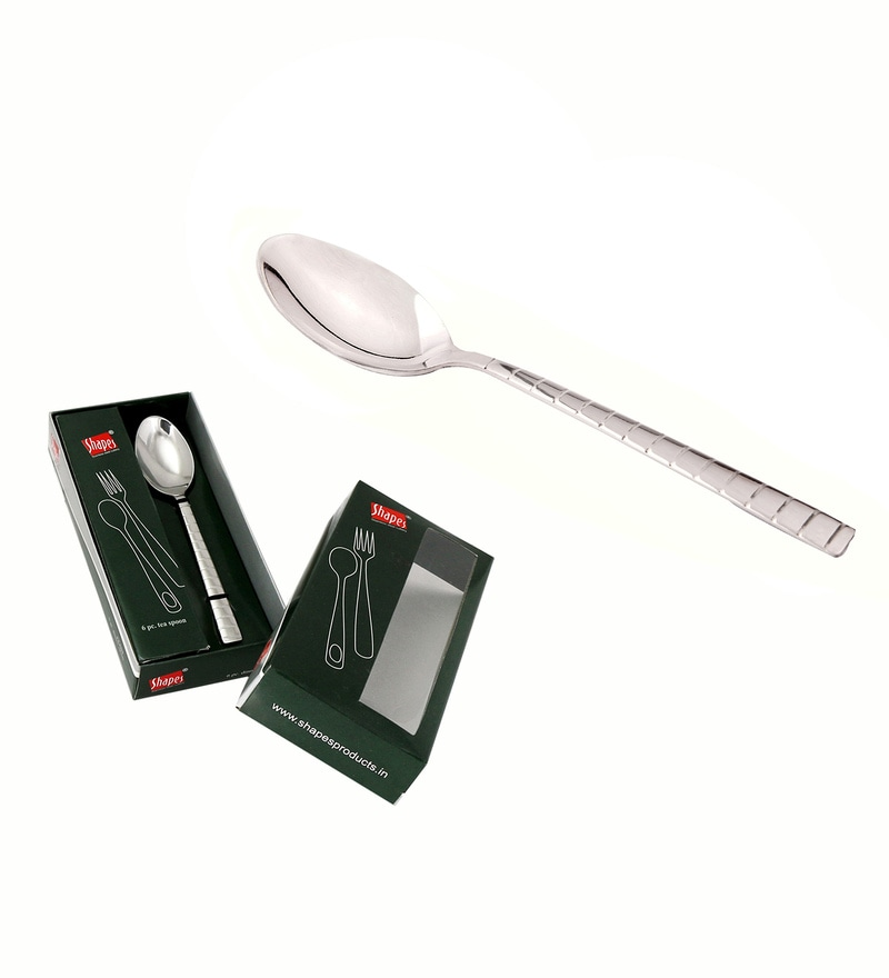 Shapes Zack Silver Stainless Steel Tea Spoon - Set of 12