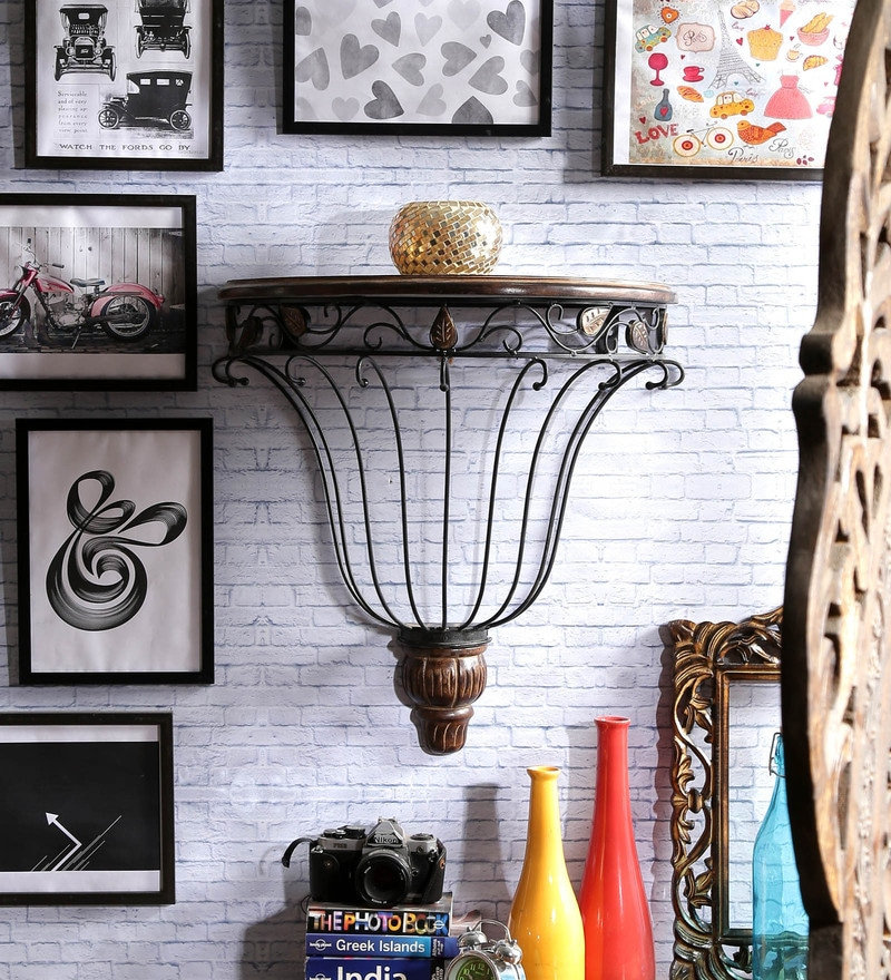 Lancefield Colonial Wall Shelf in Brown by Dream Arts