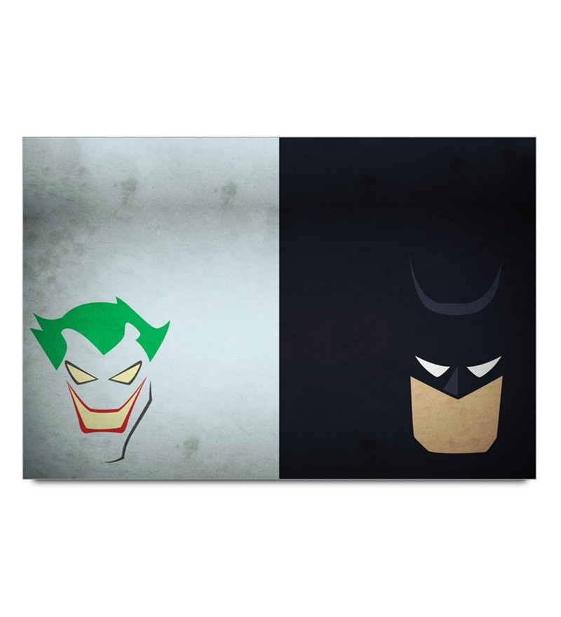 Paper 19 x 13 Inch Batman And Joker Minimal Unframed Laminated Poster by Shop Mantra
