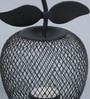 Shaz Living Black Mild Steel Tropical Pear And Apple Shape Tea Light Holder