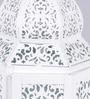 Shaz Living White Metal Maroc Lantern