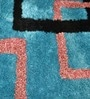 Blues Polyester Area Rug by Shobha Woollens