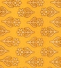 Jaipuri Block Print Yellow Cotton Abstract Double Quilt by SHRA