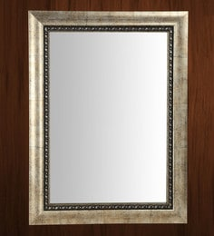 Silver Fibre Framed Decorative Wall Mirror - 1657810