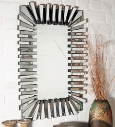 Silver Glass & MDF Flip Flop Wall Mirror By Venetian Design