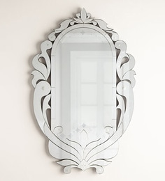 Silver Glass & MDF Queen Venetian Mirror