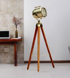 Silver Metal Floor Tripod Lamp