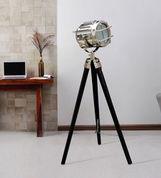 Silver Metal Floor Tripod Lamp - 1711237